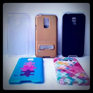 3 Galaxy s5 Cases and 2 COOL Unknown Model Cases